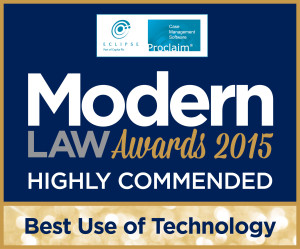Selachii LLP Highly Commended at Modern Law Awards 2015